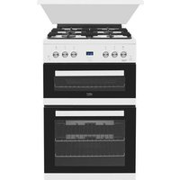 EDG6L33W 60cm Double Oven Gas Cooker with Glass Lid - Glass Gifts