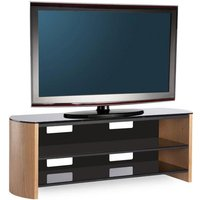 FW1350-LO/B Finewoods TV Stand in Light Oak - Simply Electricals Gifts