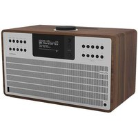 SuperCD DAB Internet Radio With CD Player - Walnut / Silver - Internet Gifts
