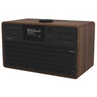 SuperCD DAB Internet Radio With CD Player - Walnut / Black - Internet Gifts