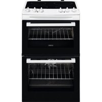 ZCV46050WA 55cm Electric Double Oven with Ceramic Hob
