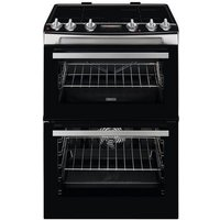 ZCI66288XA 60cm Electric Double Oven with Induction Hob | Black