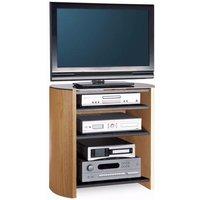 FW750/4-LO/B Finewoods HiFi TV Stand in Light Oak - Tv Gifts