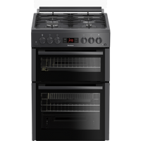 GGN65N 60cm Double Oven Gas Cooker with Gas Hob - Anthracite