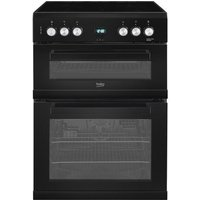 EDC633K 60cm Double Oven Electric Cooker with Ceramic Hob