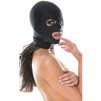 Zwart spandex masker