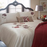 Red Blanche Embroidered Duvet Cover