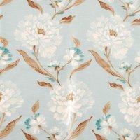 Eau De Nil Vintage Printed Curtain Fabric Eau de Nil