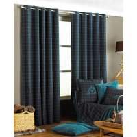 Teal Verbier Ready Made Eyelet Curtains