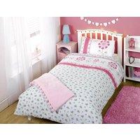 Pink Pippa Printed Duvet Set Single