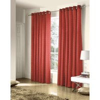 Red Ritz Ready Made Eyelet Curtains