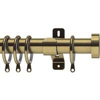 Antique Brass Swish 35mm Stud Curtain Pole