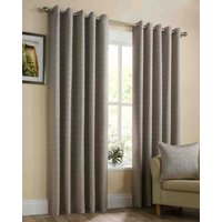 Gold Lyon Ready Made Lined Eyelet Curtains