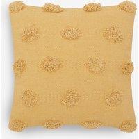 Next Textured Pom Pom Cushion - Yellow