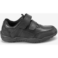 Boys Next Black Narrow Fit Sporty Double Strap Leather Shoes (Older Boys)