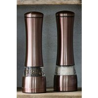 Next Copper Effect Salt And Pepper Grinder Set - Copper