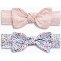 Girls Next Pink/Blue Ditsy Headband Two Pack (0mths-2yrs) - Pink