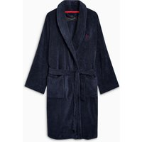 Mens Next Navy Signature Towelling Robe - Blue