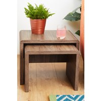 Next Set Of 2 Jay Nest Of Tables - Brown
