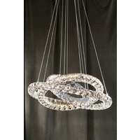 Next Coronas LED Ring 5 Light Pendant - Silver