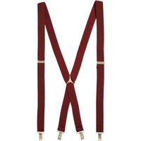 Mens Next Burgundy Herringbone Braces - Red