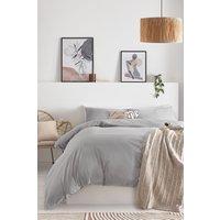 Next Cotton Rich Bed Set - Silver