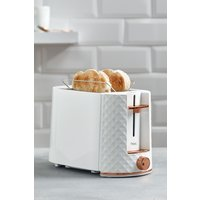 Next White Facet 2 Slice Toaster - White