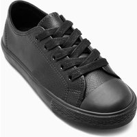 Boys Next Black Lace-Up Leather Sneakers (Older Boys)