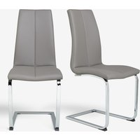Next Set Of 2 Opus Cantilever Dining Chairs