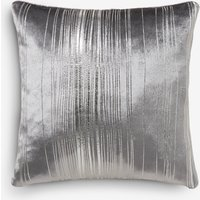 Next Metallic Stripe Cushion - Silver