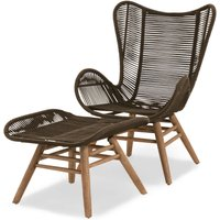 Next Bali Garden Chair And Footstool
