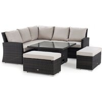 Next Monaco Brown Slim Living And Dining Table Garden Set