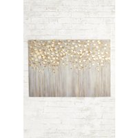 Next Gold Birch Trees Large Canvas - Gold