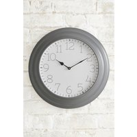 Next Metal Wall Clock - Grey