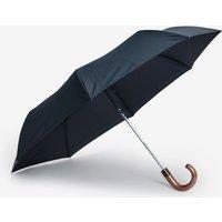 Mens Next Navy Wooden Handle Umbrella - Blue