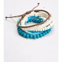 Mens Next Aqua Mixed Bracelet Set - Blue