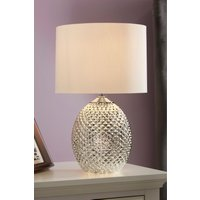 Next Small Glamour Table Lamp - Silver