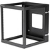 StarTech.com 12U 22in Depth Hinged Open Frame Wall Mount Server Rack - 63.50 kg x Maximum Weight Capacity