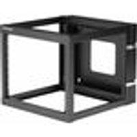 StarTech.com 8U 22in Depth Hinged Open Frame Wall Mount Server Rack - 63.50 kg x Maximum Weight Capacity