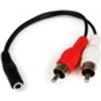 StarTech.com 6in Stereo Audio Cable - 3.5mm Female to 2x RCA Male - 1 x Mini-phone Female Stereo Audio