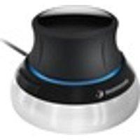 3Dconnexion SpaceMouse Compact - Cable - 2 Button(s) - Black, Silver - USB 1.1 - Symmetrical