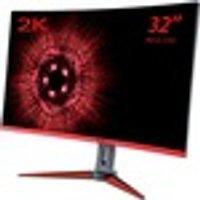 "Hannspree Gaming HG 324 QJB 31.5"" 2k WQHD Curved Screen LED Gaming LCD Monitor"
