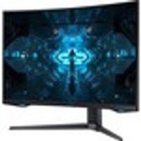 """Samsung Odyssey G75 WQHD 31.5"""" 240Hz Curved Gaming Monitor with AMD FreeSync - Black"""