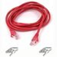Belkin A3L980B03MRD-HS Category 6 Network Cable - 3 m - Patch Cable - Red