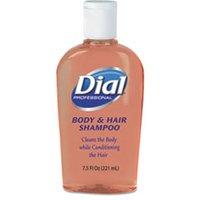 Body & Hair Care, Peach Scent, 7.5oz Flip-Cap Bottle, 24/Carton