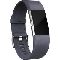 Fitbit Charge 2 Leather Accessory Band - Indigo, Large, Indigo