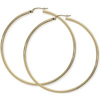 Jewellery 9ct Gold Plain Hoop Earrings