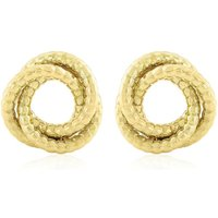 Jewellery 9ct Gold Knot Earrings