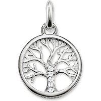 Ladies Thomas Sabo Sterling Silver Karma Beads Tree Of Life Pendant