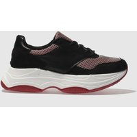Schuh Black & Red Freaky Trainers